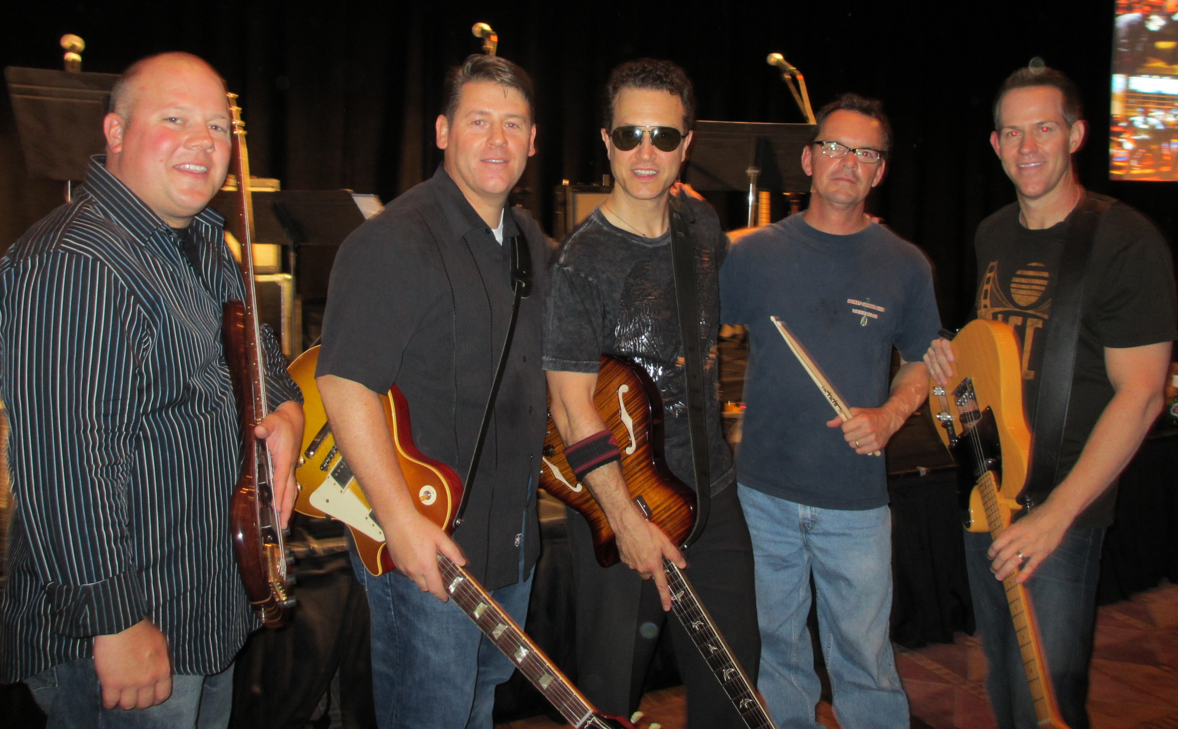 From left to right: Chris Connel, Mark Salyers (me) Steve Liberace, Rick Honecker, and Ben Johnson...